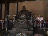 The Last Emperor of China's statue at the Ming Tom